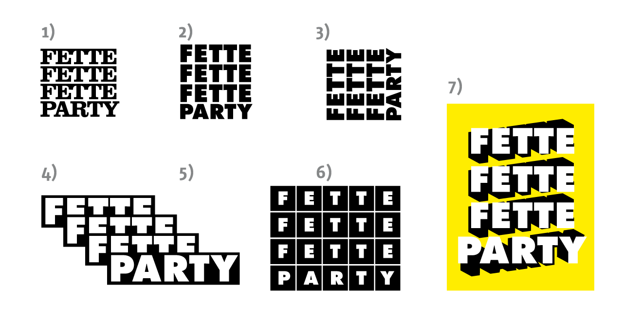 Fette Fette Fette Party Logo Ideen Roman Holland