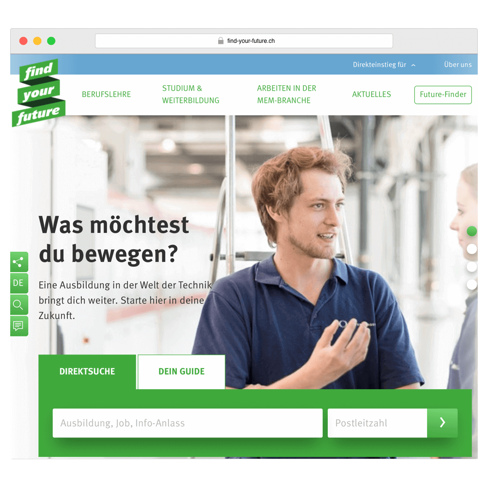 Konzeption und UX-Prozess der Find-Your-Future Plattform